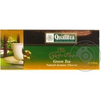 Зелений чай Кволіті з жасмином в пакетиках 25х2г Україна - купити, ціни на Novus - фото 1