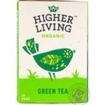 Чай зелений органічний Higher Living Organic картон 40г, 20 пакетиків