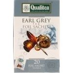 Black tea Qualitea Earl Grey Ceylon tea with bergamot 20x2g teabags