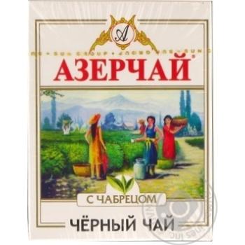 Черный чай Азерчай с чабрецом 100г