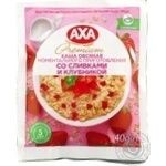 Axa with cream and strawberries quick-cooking oatmeal 40g