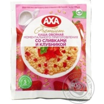 Каша Axa овсяная cо сливками и клубникой 40г