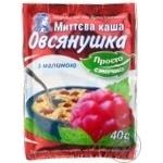 Каша овсяная Овсянушка с малиной и сахаром быстрого приготовления 40г