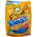 Сніданок сухий готовий Зернові кільця з медом Bona Vita 375г