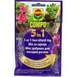 Добриво Compo мікс тривалої дії для посадки рослин 5 в 1 40г 3532