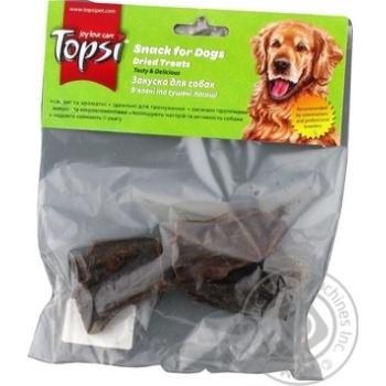 Печень говяжья Topsi для собак сушеная 60г