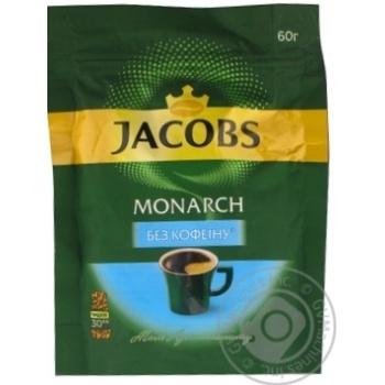 Кофе Jacobs Monarch без кофеина растворимый 60г