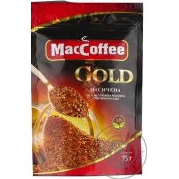 Кофе MacCoffee Gold натуральный растворимый сублимированный 75г