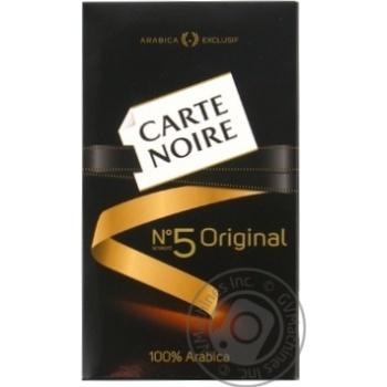 Кава Carte Noire Original мелена 250г - купити, ціни на МегаМаркет - фото 1