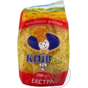 Вироби макаронні Киев Микс Вермишель толст 1кг - купить, цены на Novus - фото 7