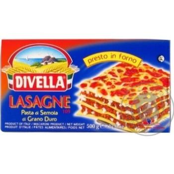 Макарони Divella Lasagne di semola 500г - купить, цены на Novus - фото 1