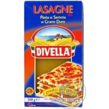Макарони Divella Lasagne di semola 500г - купити, ціни на Novus - фото 2