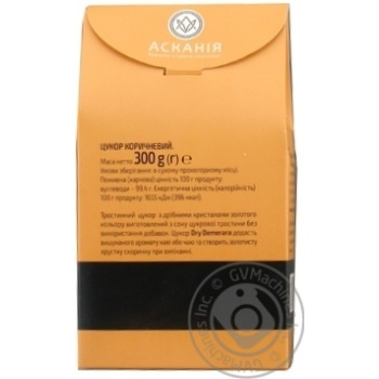 Сахар Аскания-Пак Dry Demerara коричневый 300г - купить, цены на Varus - фото 6