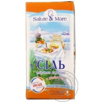 Соль Salute di Mare морская пищевая мелкая с ламинарией 750г