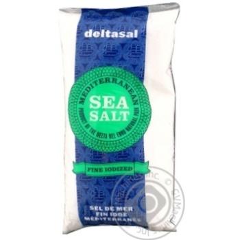 Сіль Гурме морська йодована (дрібного помолу) Deltasal 1кг - купити, ціни на Novus - фото 1