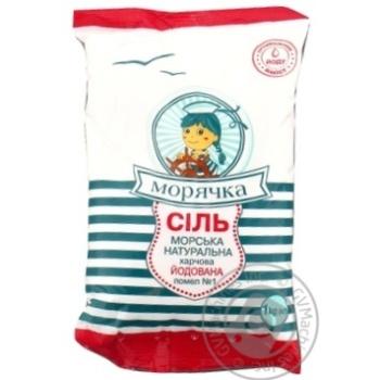 Соль Морячка морская йодированная 1кг