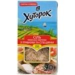 Соль Хуторок морская пищевая со специями и травами 200г
