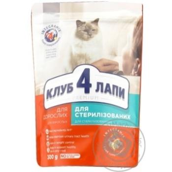 Корм сухой Club 4 Paws Премиум для взрослых стерилизованных кошек 300г - купить, цены на Novus - фото 2