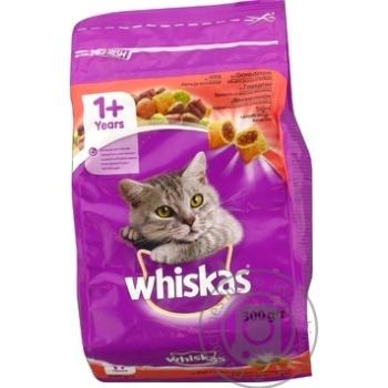 Корм сухой Whiskas для взрослых кошек с говядиной 300г - купить, цены на Фуршет - фото 4