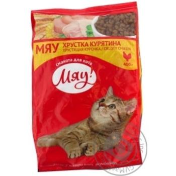 Корм сухой Мяу! для взрослых котов C курицей 400г - купить, цены на Novus - фото 2