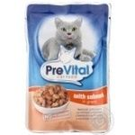 PreVital for cats in sauce with salmon food 100g