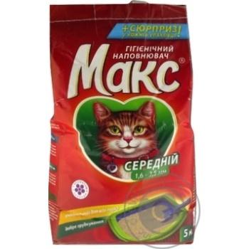 Наполнитель Макс Лаванда гигиенический средний для кошек 5кг - купить, цены на Novus - фото 3