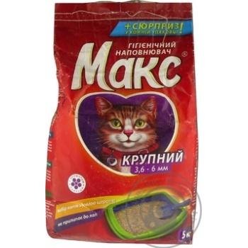 Наповнювач гігієнічний для тварин Макс великий 5кг