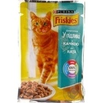 Food Friskies With duck pieces in gravy for adult cats 100g