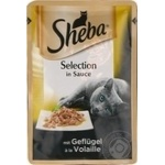 Sheba with poultry meat in sauce for cats food 85g