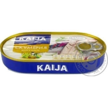 Kaija In Oil Fish Atlantic Mackerel