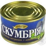 Fish atlantic mackerel Ekvator in oil 240g can