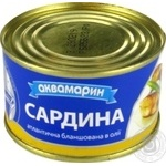 Fish sardines Akvamaryn in oil 230g
