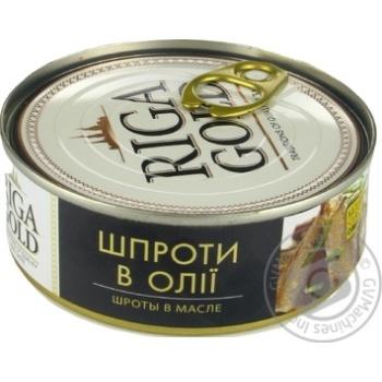 Шпроты Рижское золото в масле 240г