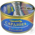 Fish sardines Proliv in oil 240g can