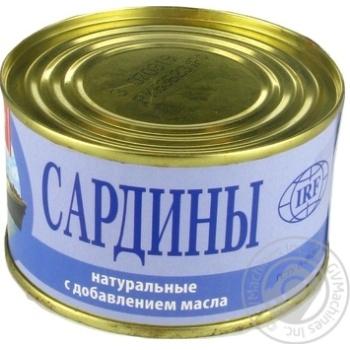 Сардины ИРФ натуральные с добавлением масла 230г - купить, цены на Novus - фото 7