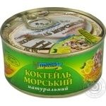 Рибні консерви морской коктель   ексклюзив. ключ   Морской Пролив ж/б 185г