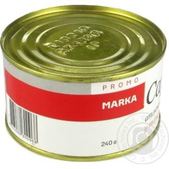 Сардини атлантичні обсмажені в томатному соусі Marka Promo 240г - купить, цены на Novus - фото 3