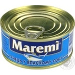 Fish tuna Maremi in own juice 160g
