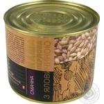 Консерви Алан Каша перлова з яловичиною 525г - купити, ціни на Novus - фото 2