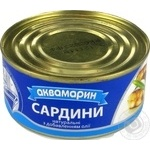 Akvamaryn canned in oil sardines 185g