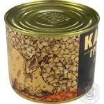 Консервы Алан Каша гречневая со свининой 525г - купить, цены на Novus - фото 3
