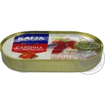 Сардины KAIJA филе в томатном соусе 170г