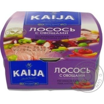 Лосось Kaija с овощами в пикантном соусе 220г - купить, цены на МегаМаркет - фото 2