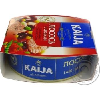 Лосось Kaija с овощами в томатном соусе 220г - купить, цены на Novus - фото 3