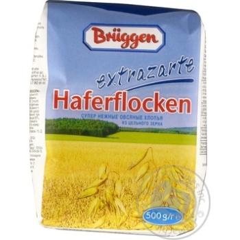 Хлопья овсяные Брюгген из цельного зерна 500г