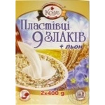 Cereal flakes Kozub 9 cereals with flax 800g