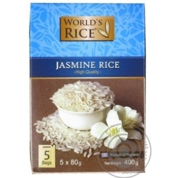 Groats rice jasmine World's rice long grain white 5pcs 400g cardboard box