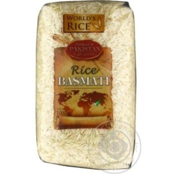 Рис World's Rice Басмати шлифованный длиннозернистый 1кг