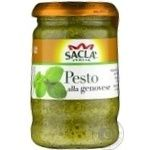 Sauce Sakla with basil for macaronis 190g glass jar