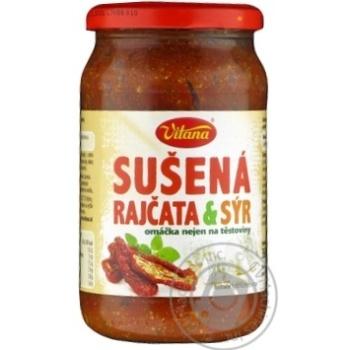 Соуси готові у склі Сушені помідори та сир Вітана 360г - купить, цены на Novus - фото 1